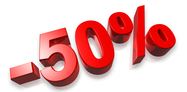 50% fifty percent